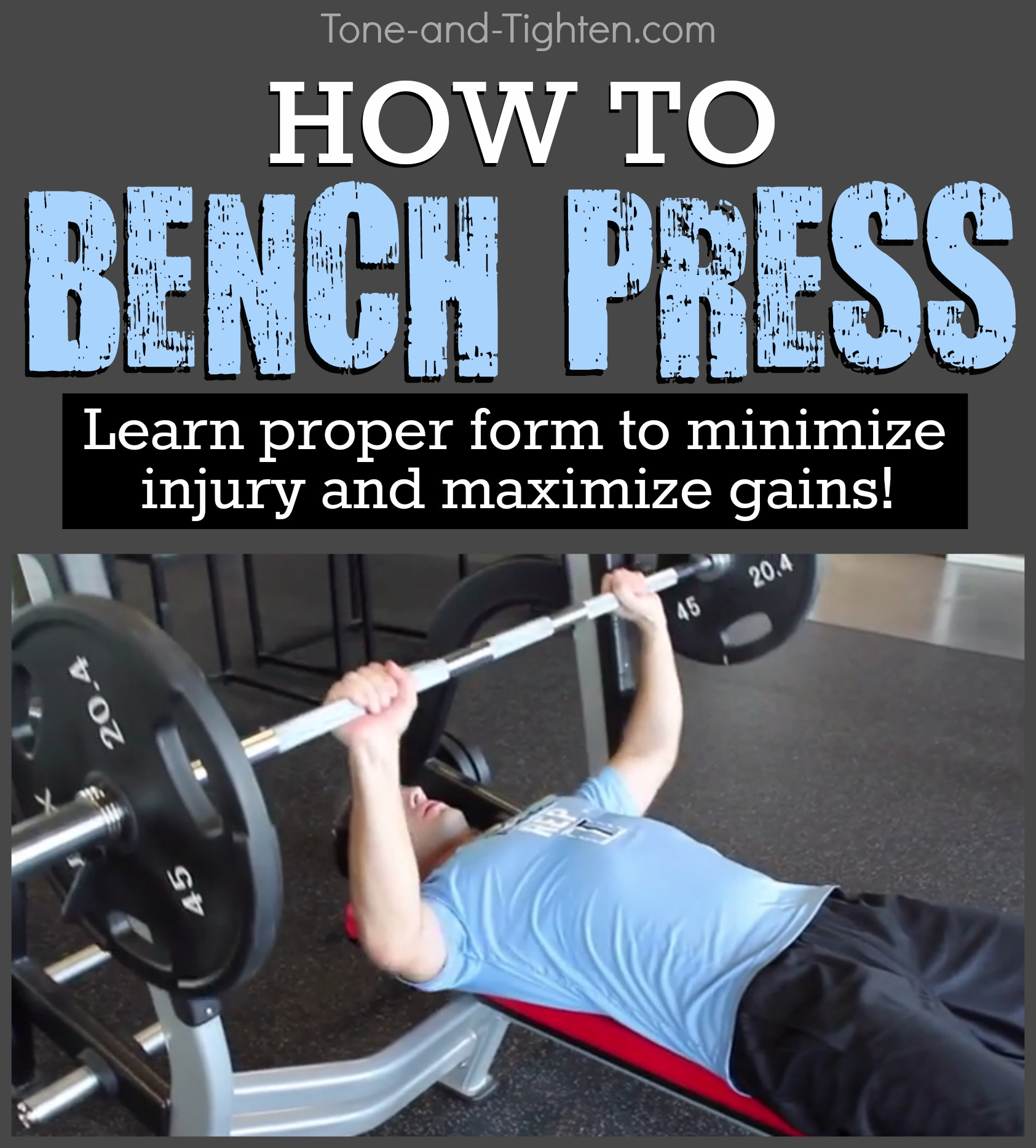 How To Bench Press Proper Form Correct Technique