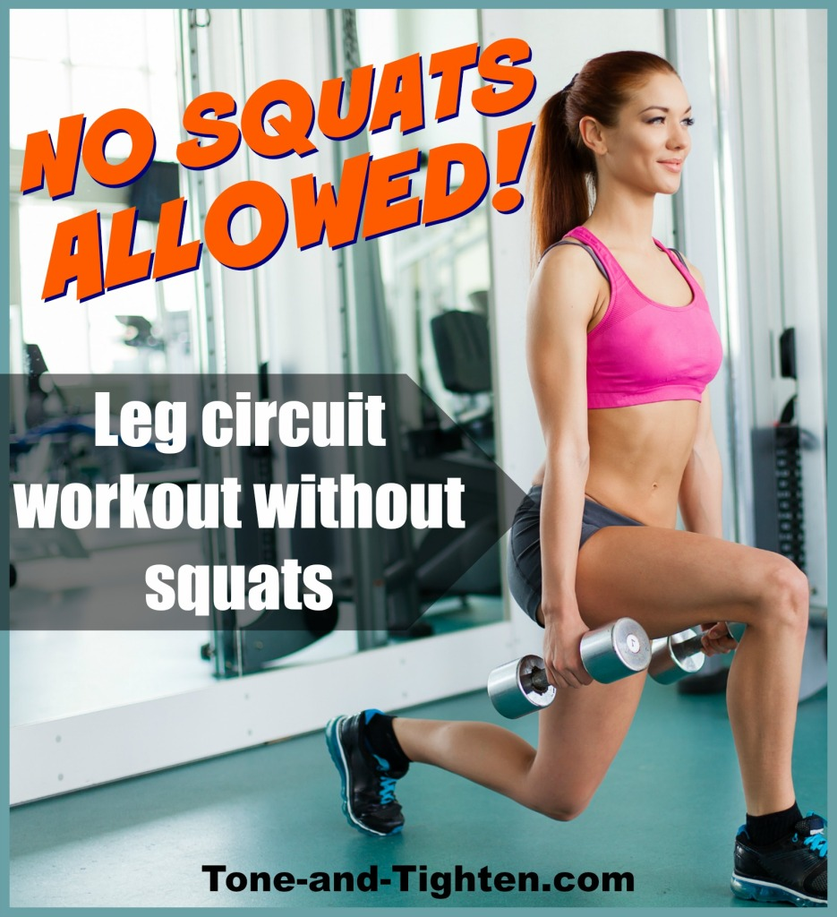leg circuit gym workout without squats tone and tighten