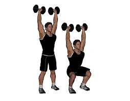 overhead dumbbell squat