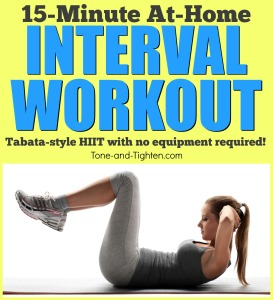 quick at home interval workout no equipment required tone and tighten