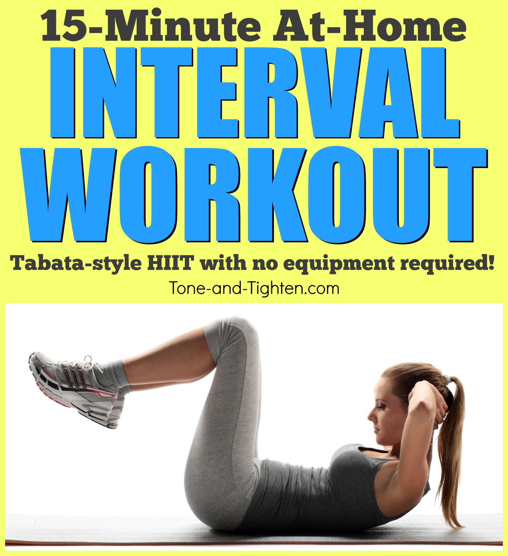 Quick at home tabata interval workout with no equipment