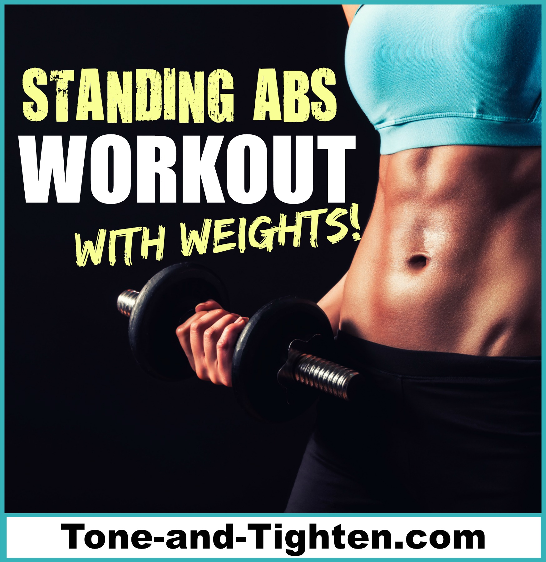 Standing Abs Workout With Weights