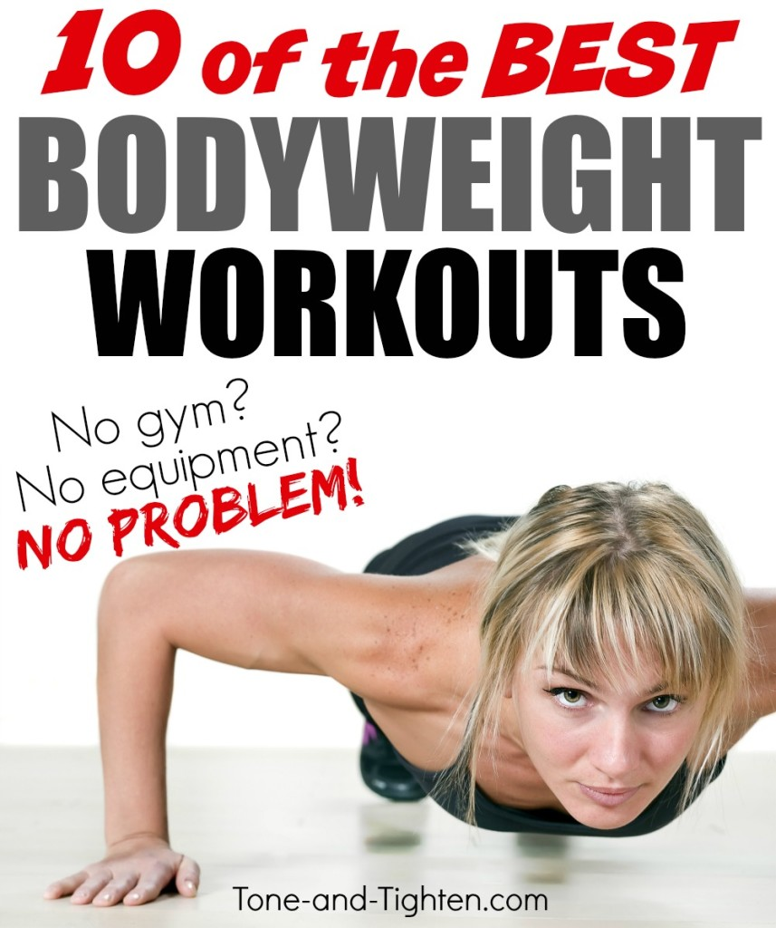 10 of the best bodyweight workouts to tone and tighten your body