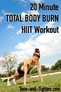 20 Minute Total Body Burn HIIT Workout on Tone-and-Tighten.com