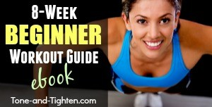 Beginner workout guide ebook sidebar ad