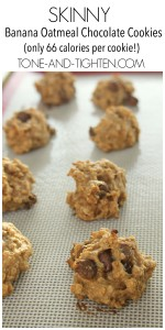 Skinny Banana Oatmeal Chocolate Cookies