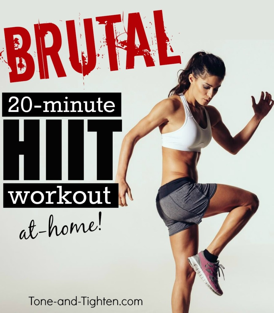 20-Minute at home HIIT workout to Tone and Tighten your arms, legs, and core.