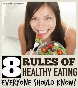 best healthy eating tips advice tone and tighten