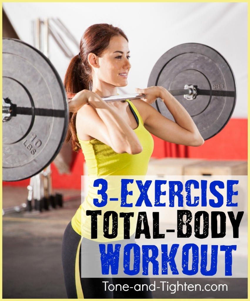 quick total body gym workout tone and tighten