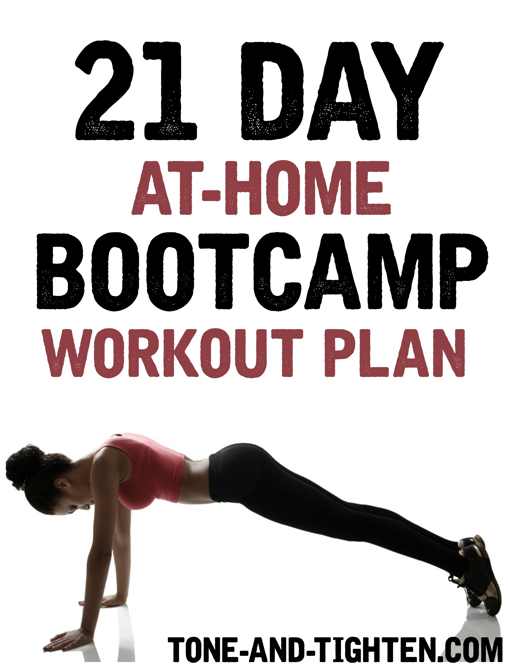 21 Day At Home Bootcamp Workout Plan Tone And Tighten