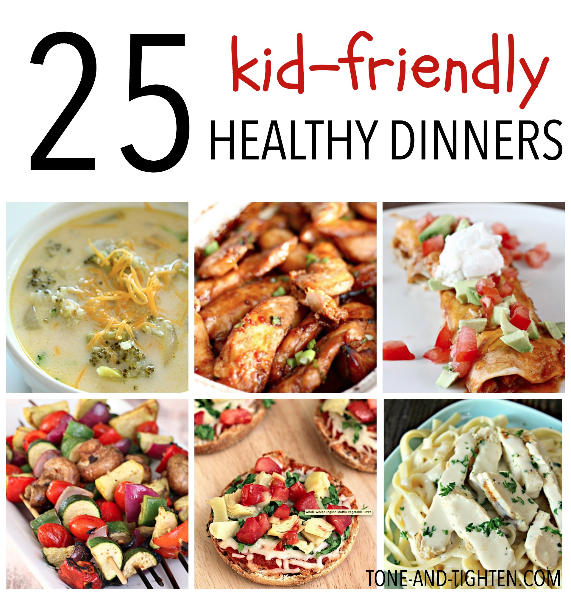 25 Kid-Friendly Healthy Dinners