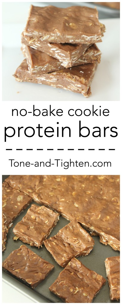 Homemade No-Bake Cookie Protein Bars on Tone-and-Tighten