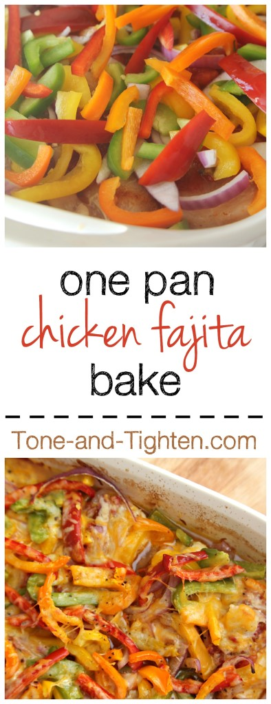 One-Pan Chicken Fajita Bake on Tone-and-Tighten