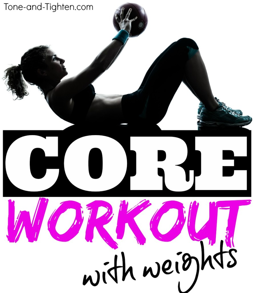 at home core workout with weights tone tighten