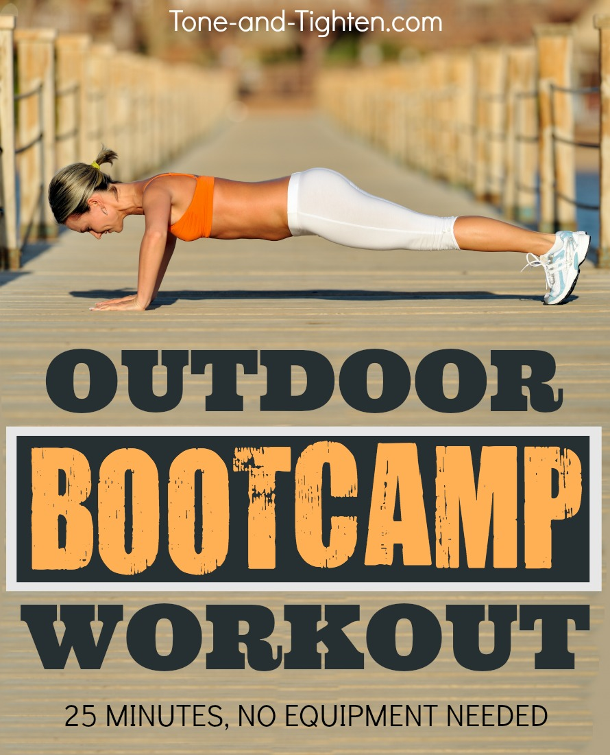 Outdoor Bootcamp Workout - No Equipment | Tone and Tighten