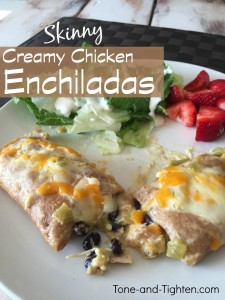 skinny white creamy chicken enchiladas tone tighten