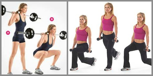 squats or walking lunges
