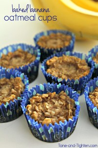 Baked Banana Oatmeal Cups on Tone-and-Tighten