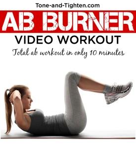 ab burner video workout tone tighten