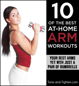 best at home arm workouts with dumbbells