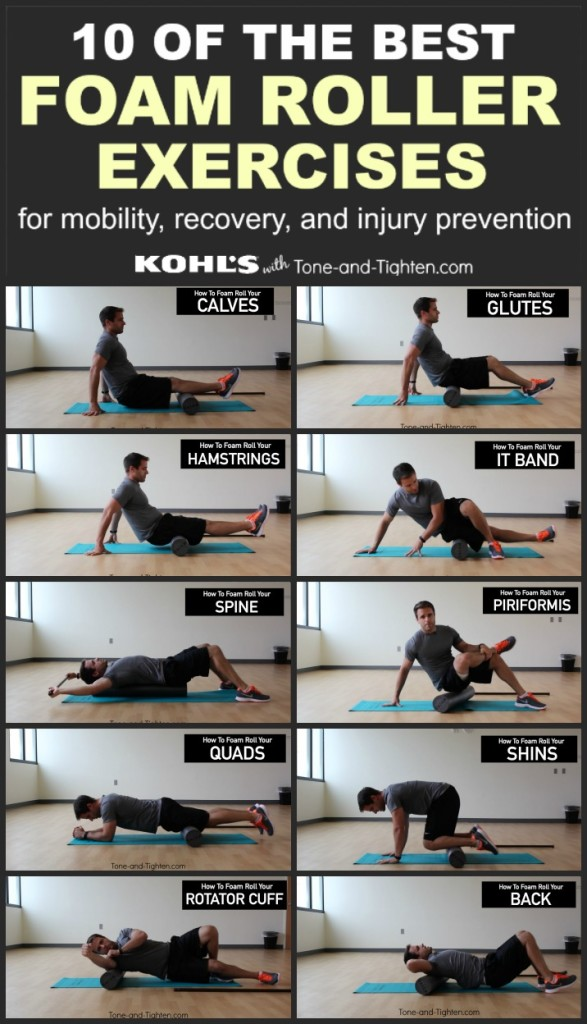 best foam roller exercises pinterest