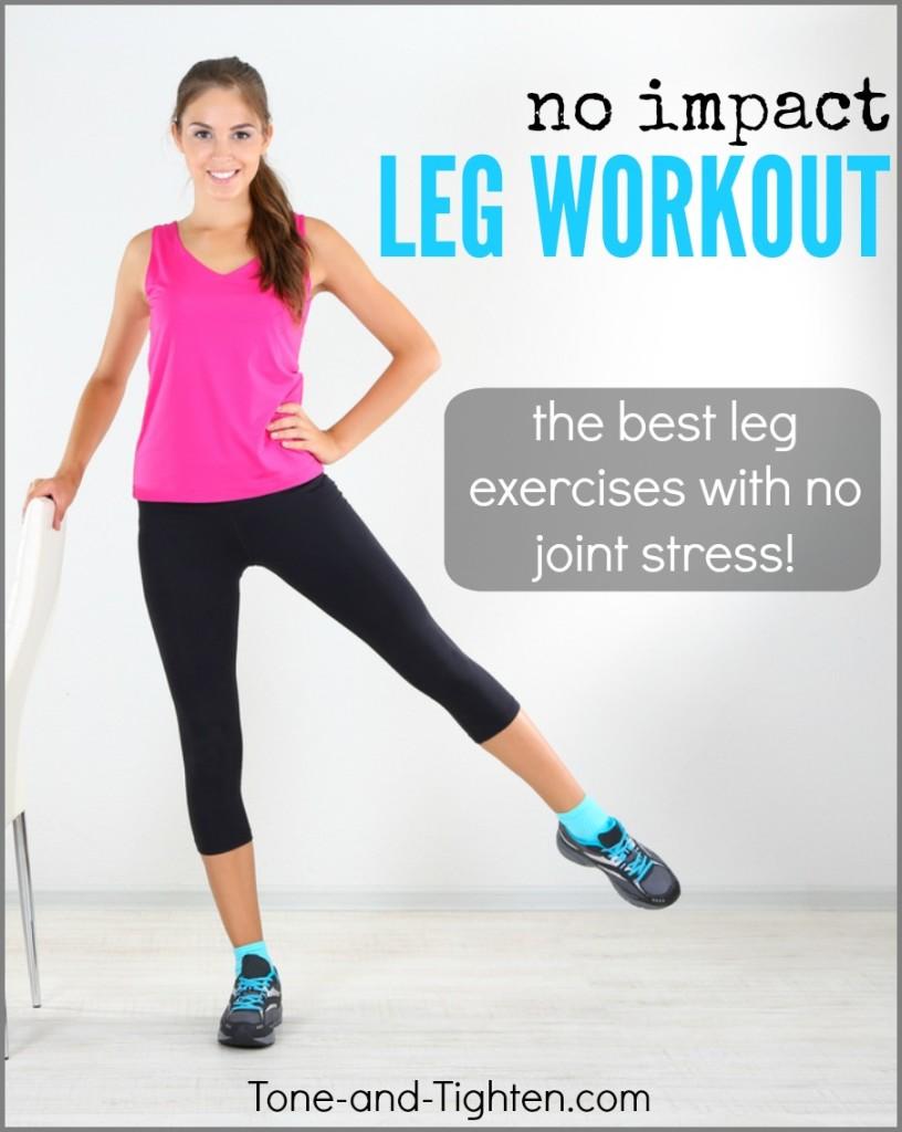no impact leg workout tone tighten