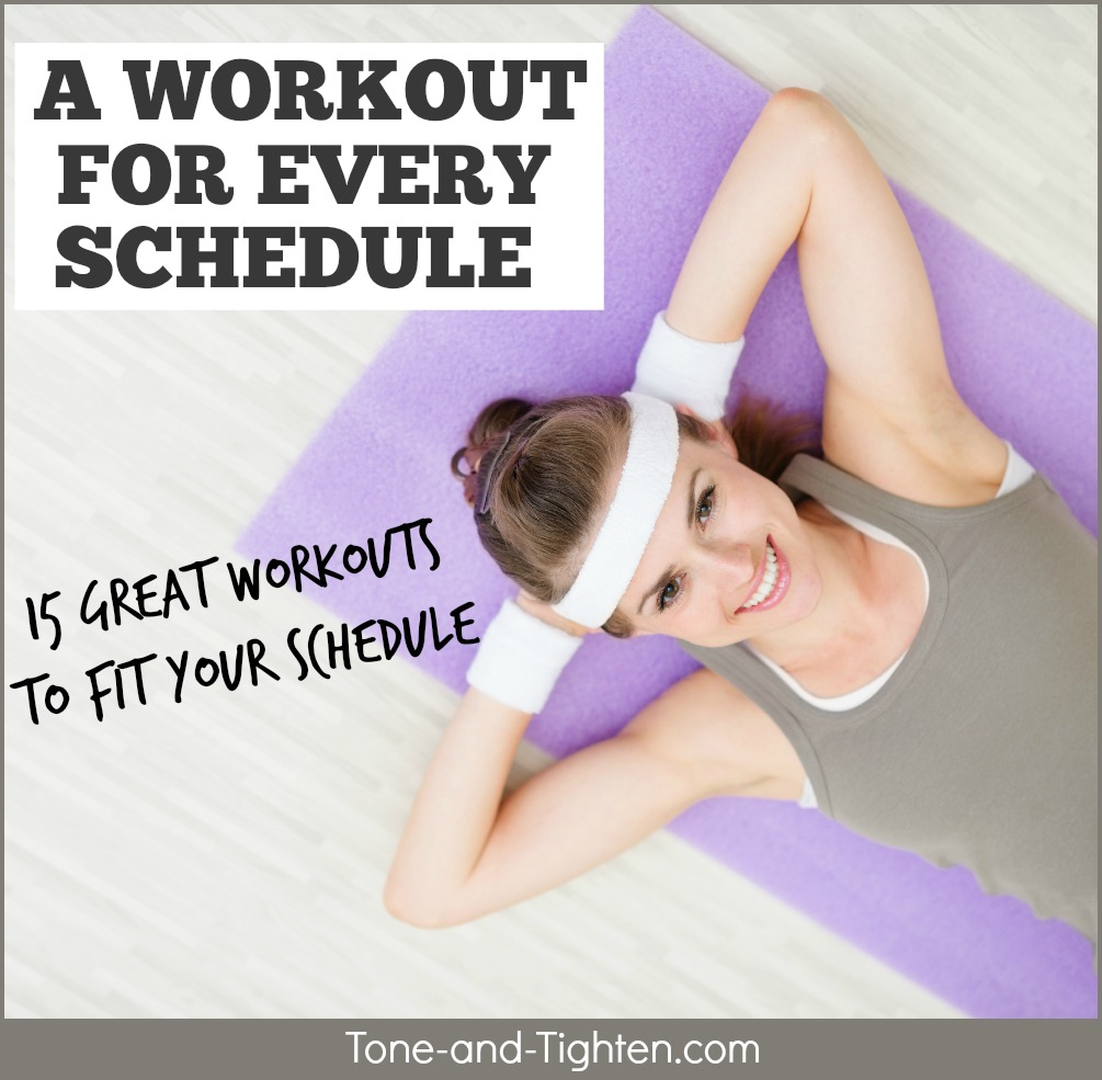 workout for every schedule tone tighten