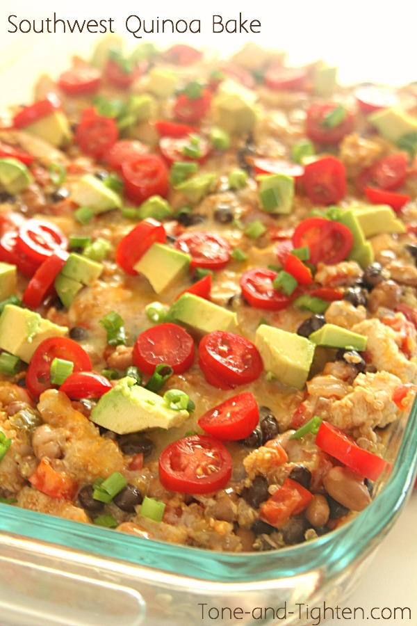 Southwest Quinoa Bake on Tone-and-Tighten.com