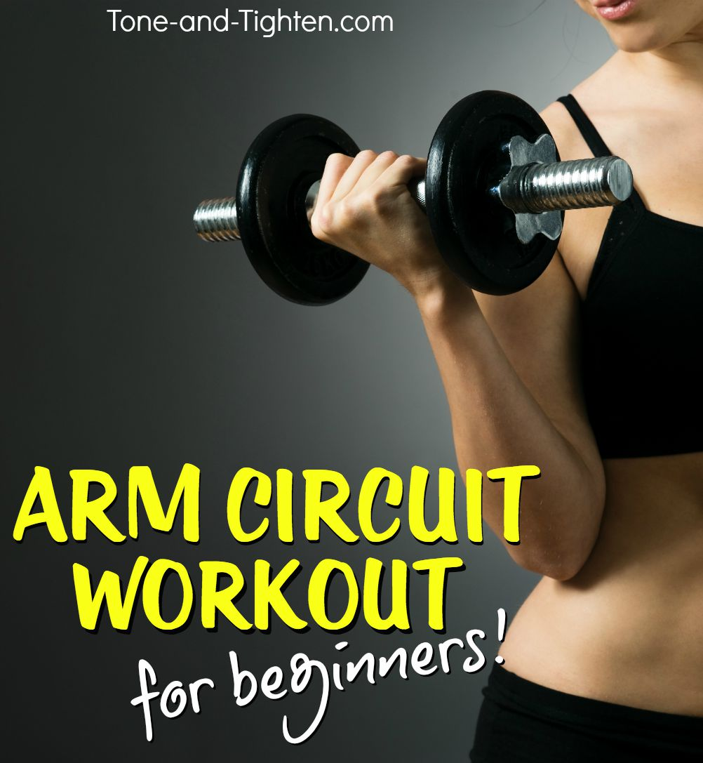 Arms Tone And Tighten Chest Back Superset Circuit Workout Beginner Arm Strength Training With Weights