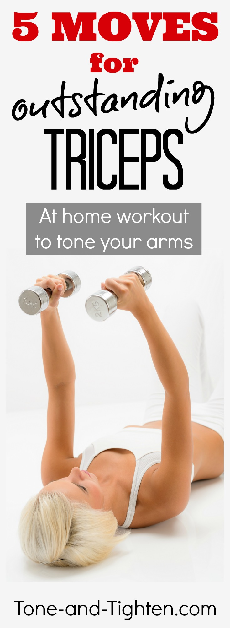 at home arm workout tone triceps pinterest