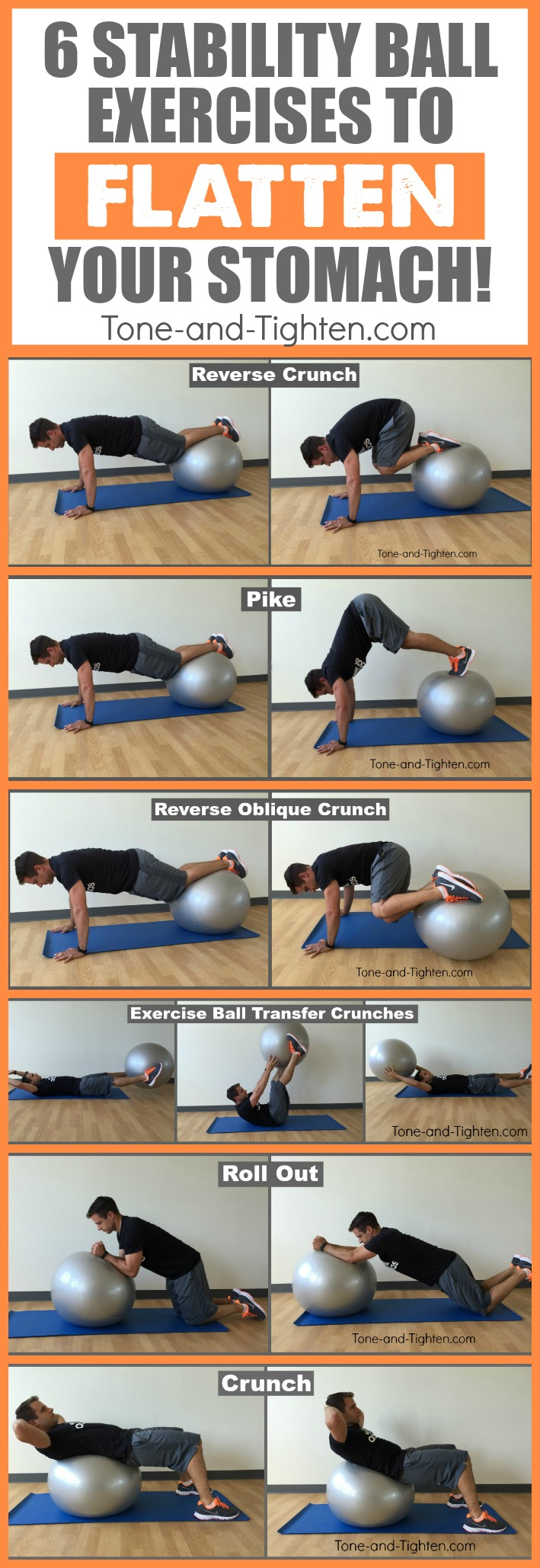 Best Exercise Ball Ab Workout At Home | Tone and Tighten