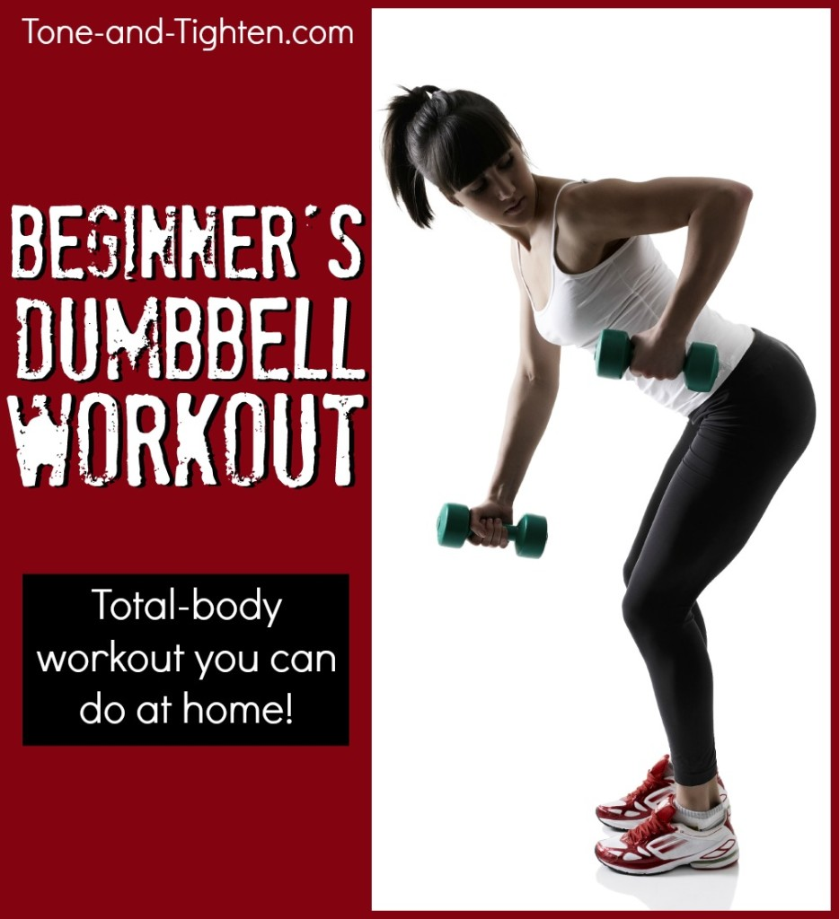 dumbbell workout beginners at home tone tighten