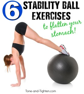 exercise swiss ball ab workout stomach tone tighten