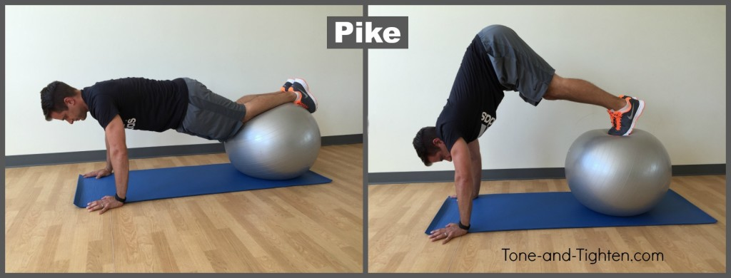 pike exercise ball swiss ab tone tighten