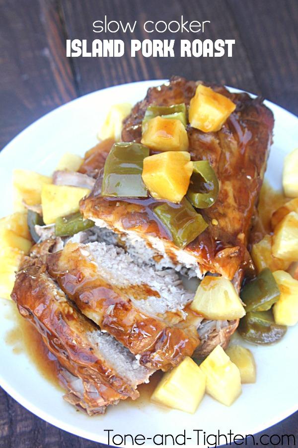 Slow Cooker Island Pork Roast on Tone-and-Tighten.com