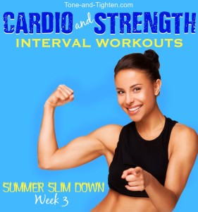 free summer workout plan tone tighten cardio strength