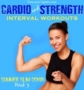 free summer workout plan tone tighten cardio strength