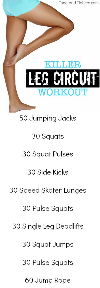 killer leg circuit workout at home pinterest