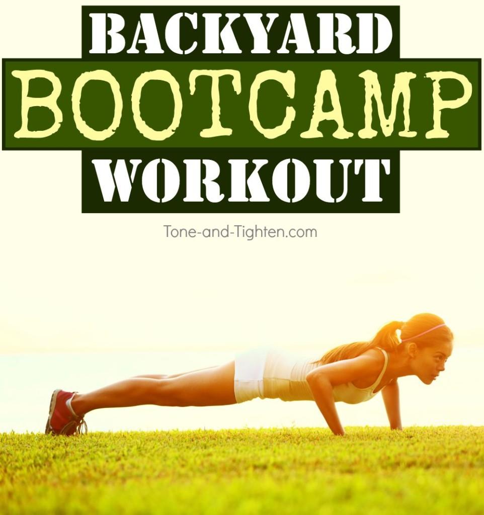 outdoor bodyweight bootcamp workout tone tighten