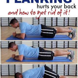 plank hurts back how to fix tone tighten