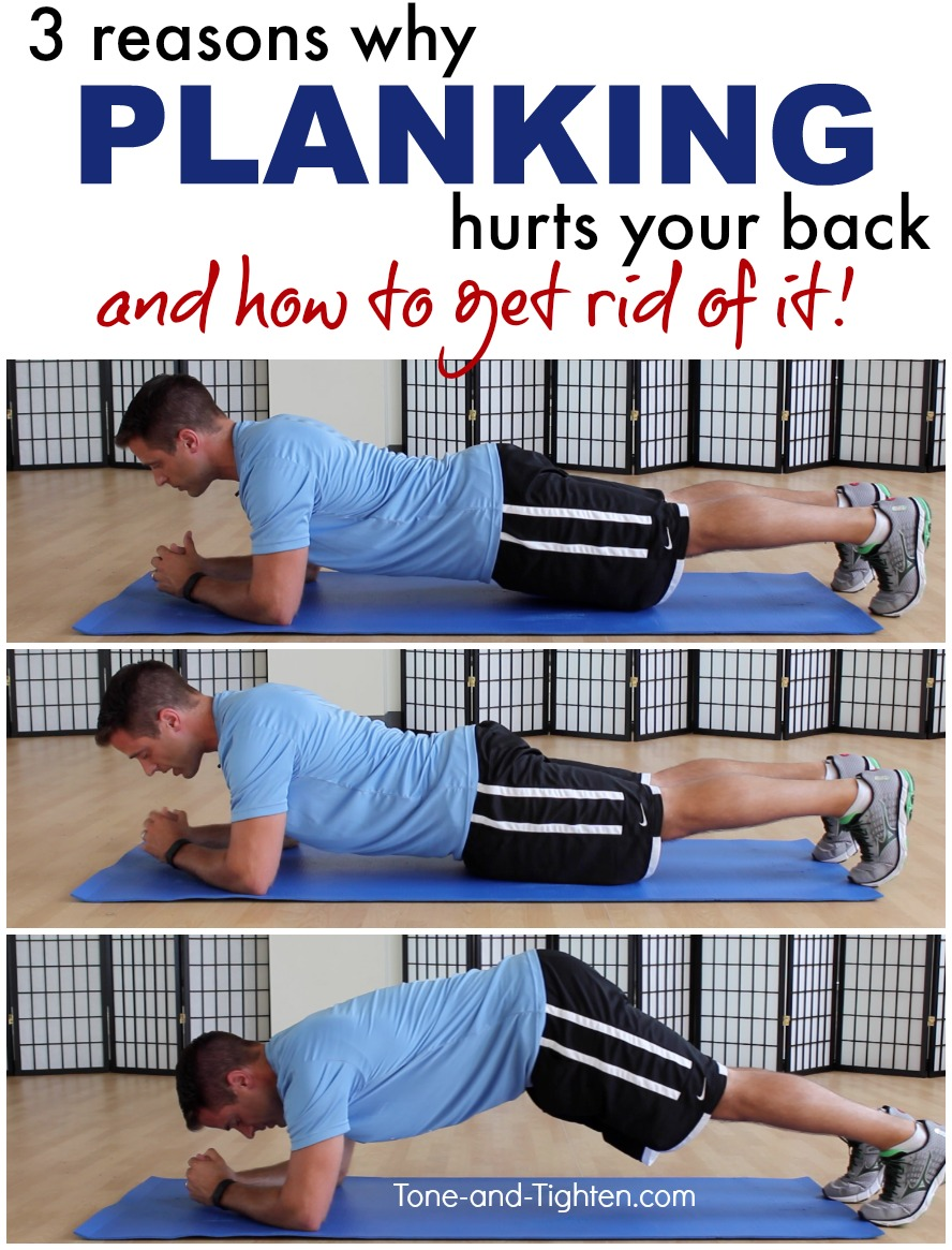 How to stop back pain while planking | Tone and Tighten