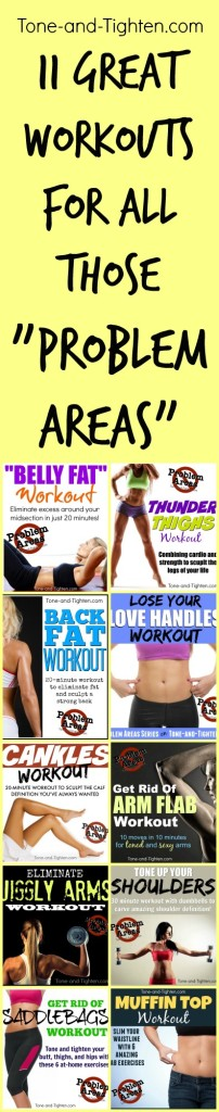 problem areas workouts pinterest