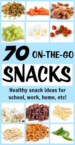 70 Healthy snacks that are perfectly portable! A great collection of on-the-go snacks from Tone-and-Tighten.com