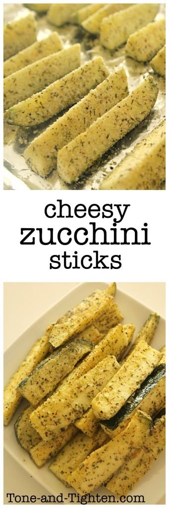 Cheesy Herb Zucchini Sticks from Tone-and-Tighten.com