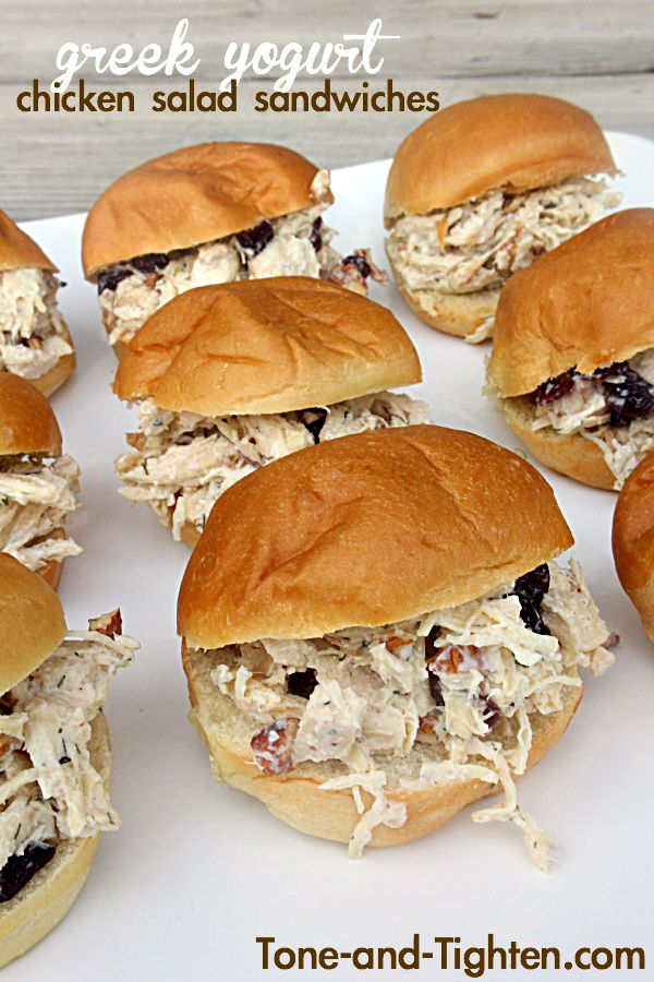Greek Yogurt Chicken Salad Sandwiches on Tone-and-Tighten.com
