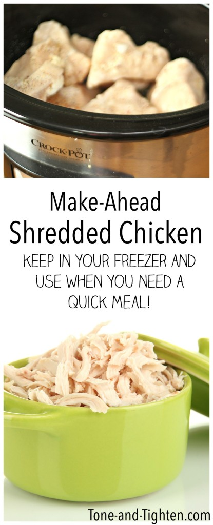Make Ahead Shredded Chicken on Tone-and-Tighten.com