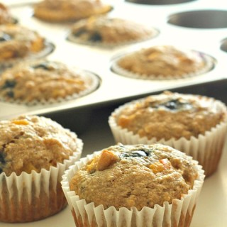 Peach Blueberry Muffins on Tone-and-Tighten.com