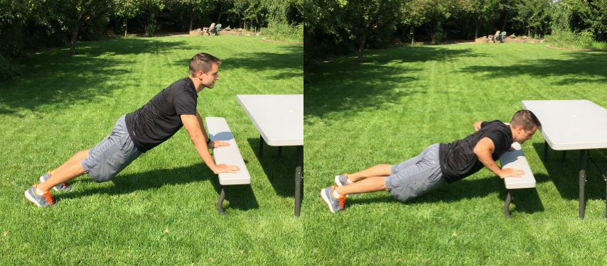 beginner bench push ups tone tighten