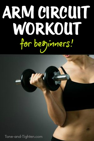 Beginner arm strength training workout with weights! Tone and tighten your arms with these 8 great exercises.