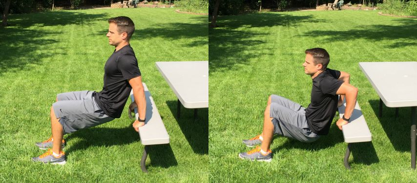 bench dips tone and tighten